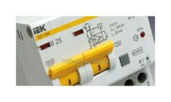 Дифференциальный автомат АД12 2p C 25A 30mA (thumb22426)