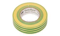 Изолента ПВХ Temflex 1300 15ммх10м, жёлто-зелёная (thumb28525)