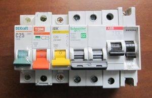 Выбор автоматического выключателя по мощности