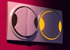 Выключатели двухклавишные с подсветкой